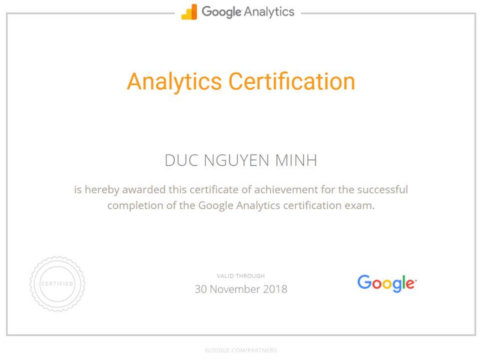 Google Analytics Individual Qualification in 1 day – not too shabby
