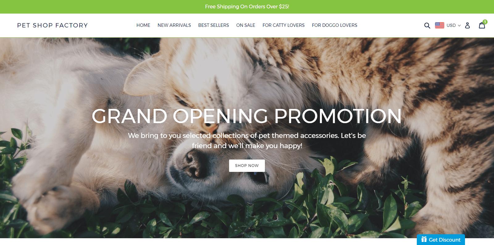 Pet Shop Factory (e-Commerce)