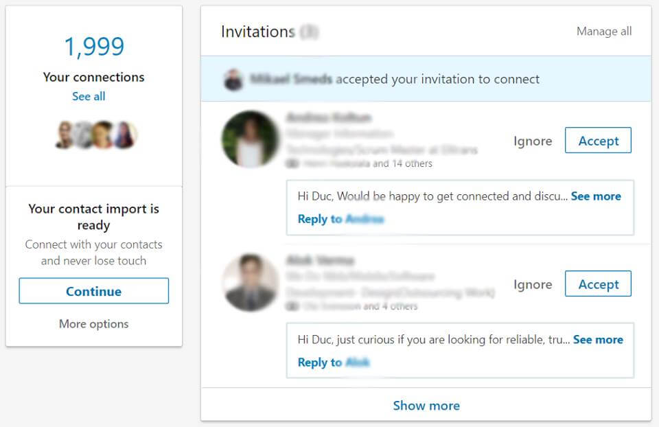I just got 2,000 connections on LinkedIn!