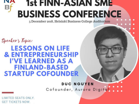 I am a guest speaker at the FINN-ASIAN SME BUSINESS CONFERENCE 2018!