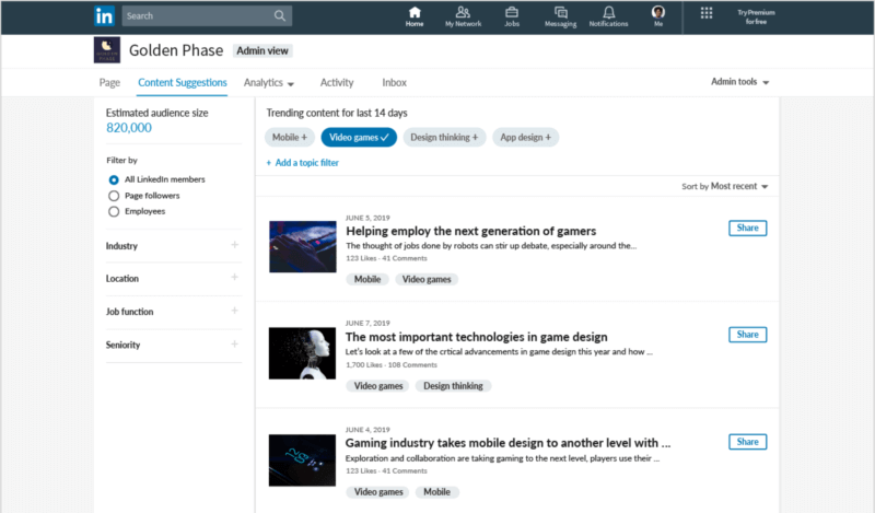 LinkedIn Company Pages get a refresh with new content suggestion tool, ways to engage employees