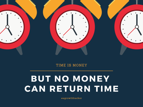 """Time is Money"". Do you agree?"