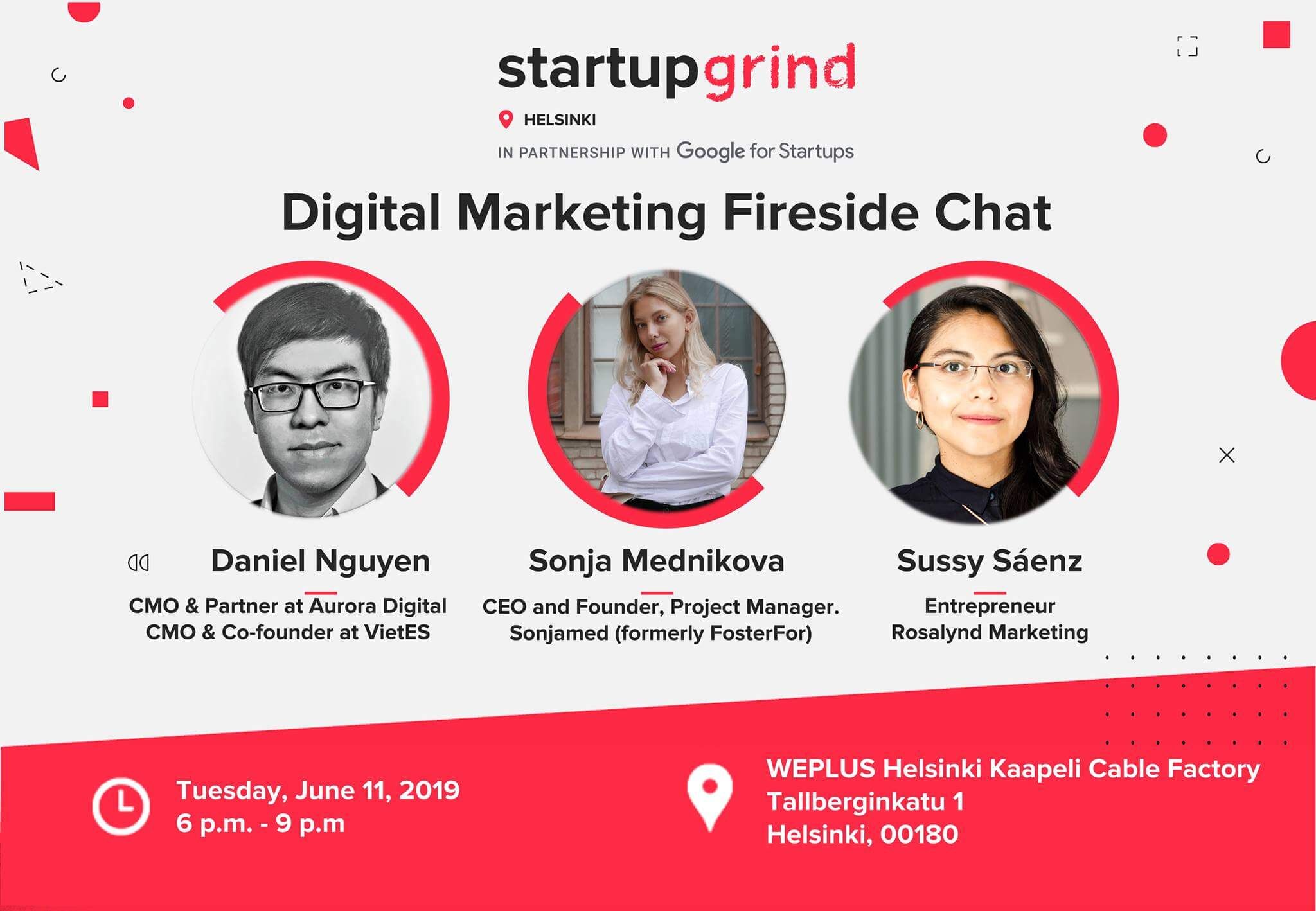 Join me at Startup Grind Helsinki's June fireside chat on 11th June