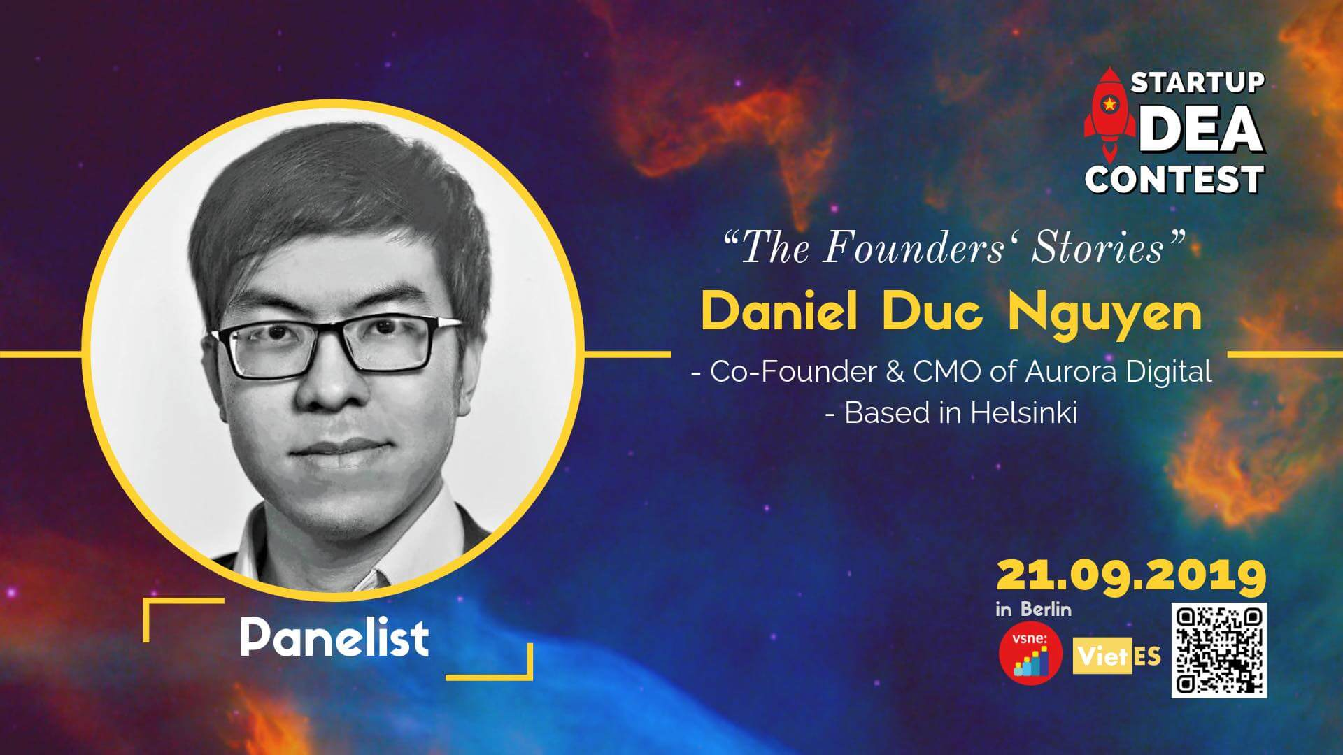 "I'll be joining the panel discussion on ""The Founders' Stories"" at Startup Idea Contest 2019 in Berlin"